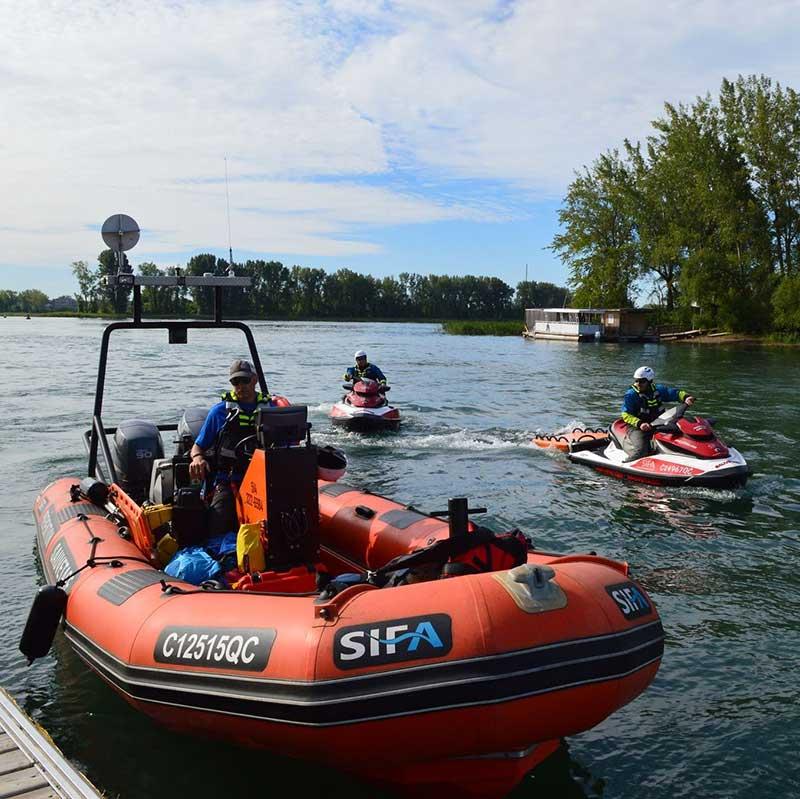 Embarcation pneumatique de sauvetage nautique - SIFA